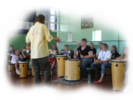 hand drumming and percussion as an easy route to school music