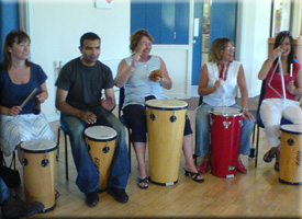 speaking to each other in rhythm - instruments and format suited to your occasion