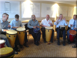 Real life team building benefits of an Active Rhythmology drumming workshop